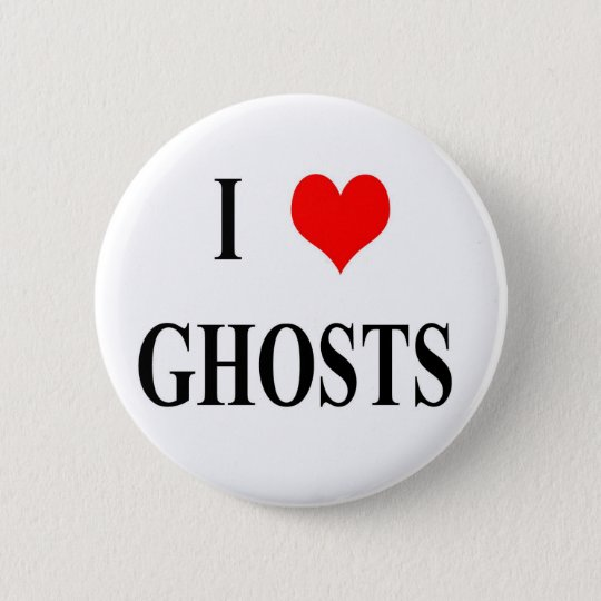 I <3 Ghosts Pinback Button