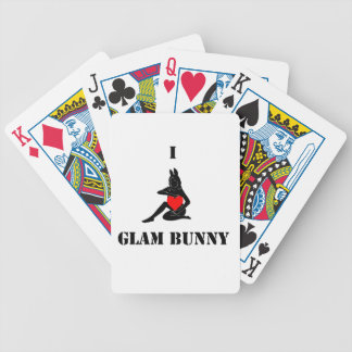 I <3 Glam Bunny Playing Cards