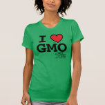 I <3 GMO MAMyths Fitted T-Shirt