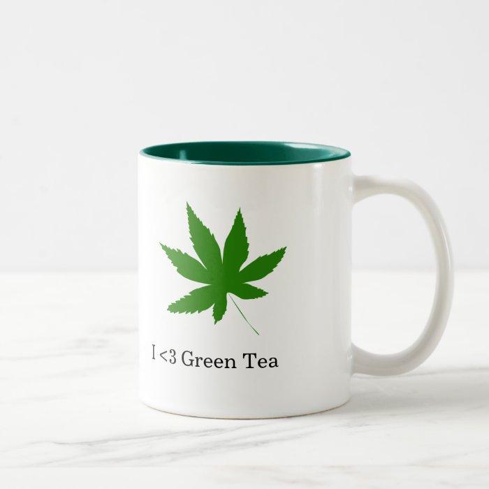 I <3 Green Tea Two-Tone Coffee Mug