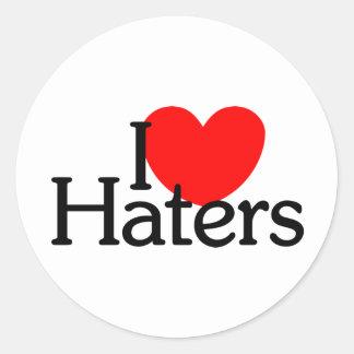 I <3 Haters Classic Round Sticker