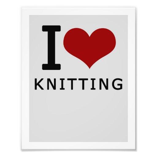 I <3 Knitting Print Photo Print
