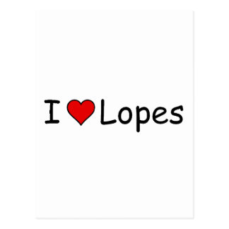 I <3 Lopes Postcard