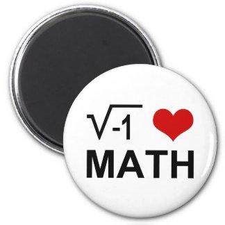 I <3 Math 2 Inch Round Magnet