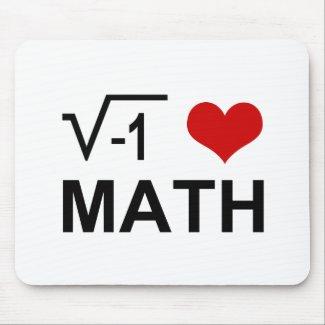 I <3 Math Mouse Pad
