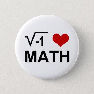 I <3 Math Pinback Button