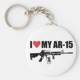 I <3 mi AR-15 Llavero Redondo Tipo Pin