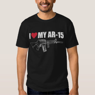 I <3 mi AR-15 Playeras