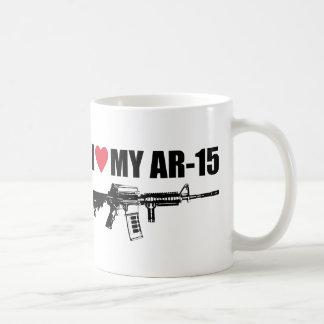 I <3 mi AR-15 Taza Básica Blanca