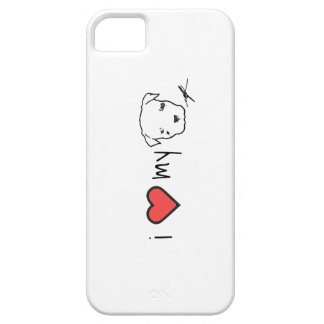 i <3 mi caso del iphone 5 del pitbull iPhone 5 fundas
