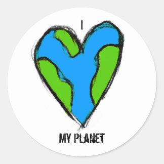 I <3 mi pegatina del planeta