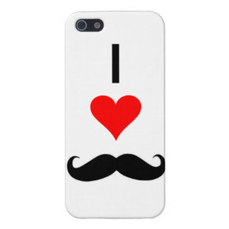 i <3 mustaches iPhone SE/5/5s case