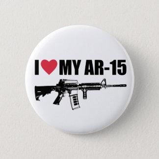 I <3 My AR-15 Pinback Button