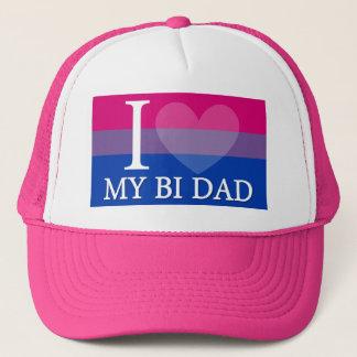 I <3 My Bi Dad Trucker Hat