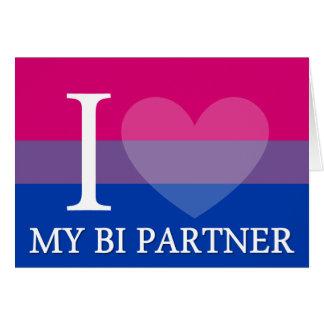 I <3 My Bi Partner Card