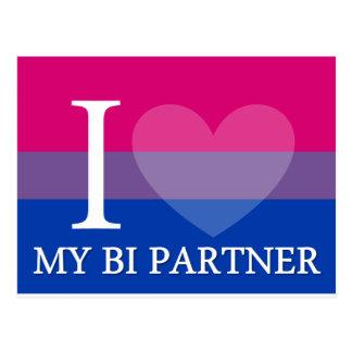 I <3 My Bi Partner Postcard