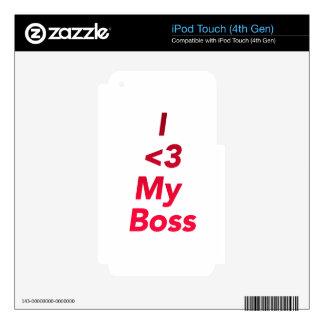 I <3 My Boss iPod Touch 4G Skin