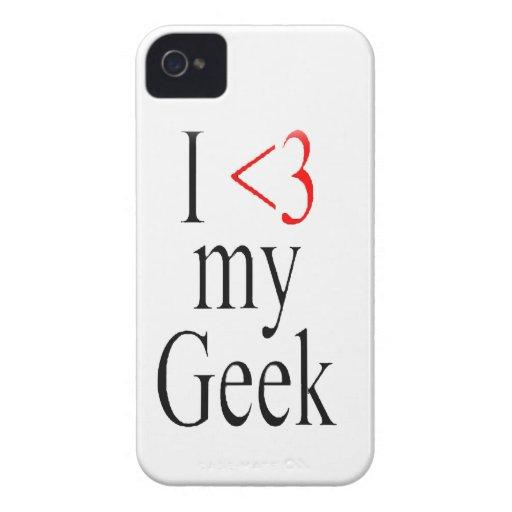 I <3 my geek iphone case iPhone 4 Case-Mate cases