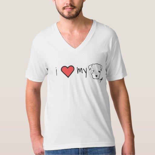 I <3 my pit bull men's shirt