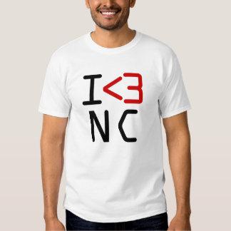 I <3 NC TEE SHIRT