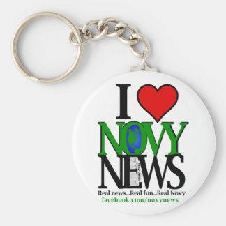 I <3 Novy News Keychain