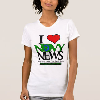 I <3 Novy News Women's Fitted Tank Top