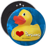 I <3 Persians! 6 Inch Round Button