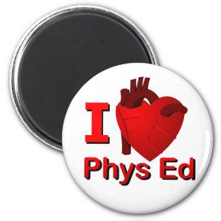 I <3 Phys Ed 2 Inch Round Magnet