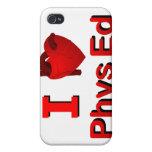 I <3 Phys Ed iPhone 4 Fundas