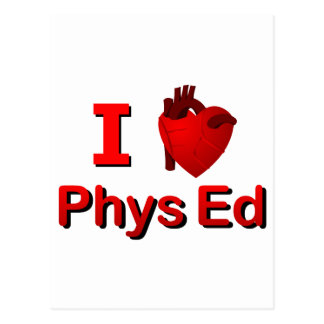 I <3 Phys Ed Postcard