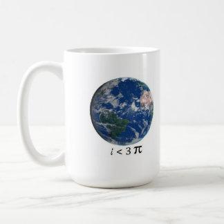 i <3 pi classic white coffee mug