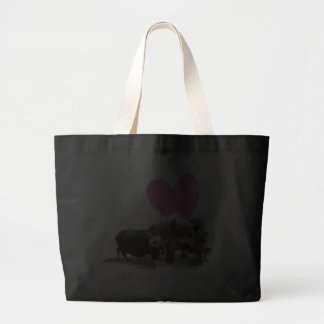 I <3 Pigs Jumbo Tote Canvas Bag