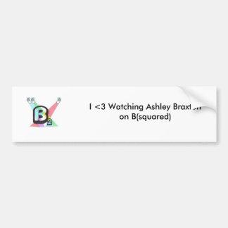 I <3 que mira a Ashley Braxton en B (ajustado) Pegatina Para Auto