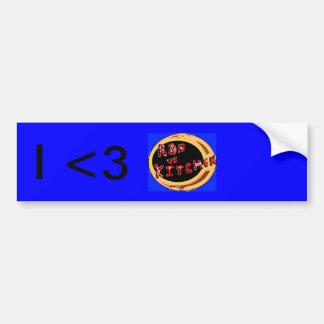 I <3 ron vs kitchen bumper sticker