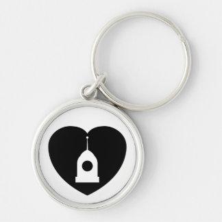 I <3 Servos! keychain in black
