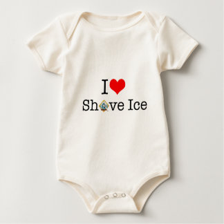 I <3 Shave Ice Baby Bodysuit