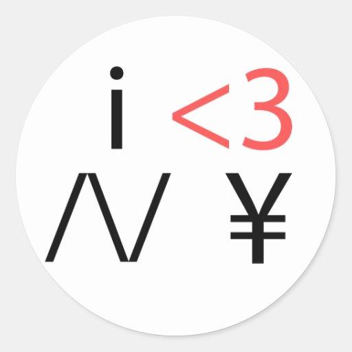 i <3 /\/ ¥ stickers