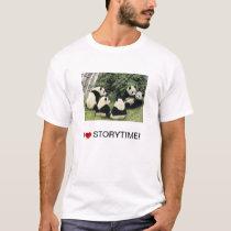 i <3 Storytime panda shirt