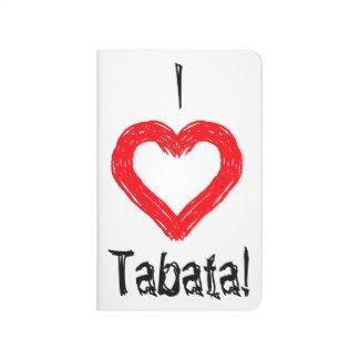 """""""I <3 Tabata"""" Pocket Workout Journal"""
