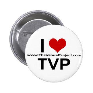 I <3 TVP PIN REDONDO DE 2 PULGADAS