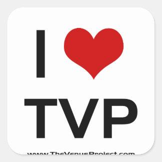 I <3 TVP SQUARE STICKER