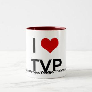 I <3 TVP TAZA DE CAFÉ DE DOS COLORES
