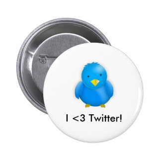 I <3 Twitter!_Button Pinback Button