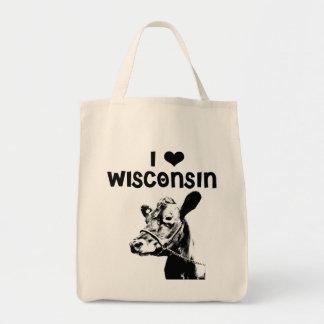 I <3 Wisconsin Bolsa Tela Para La Compra