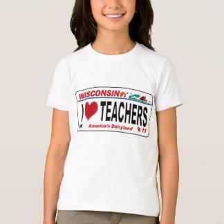 I <3 Wisconsin Teachers T-Shirt