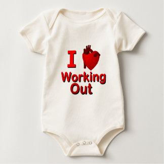 I <3 Working Out Baby Bodysuit