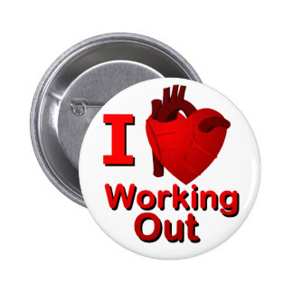 I <3 Working Out Pinback Button