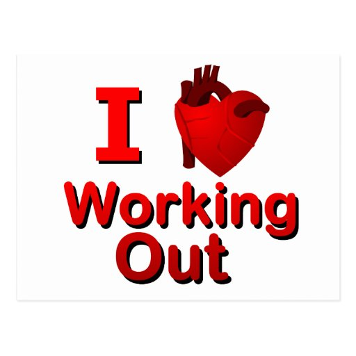 I <3 Working Out Post Cards