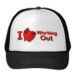 I <3 Working Out Trucker Hats