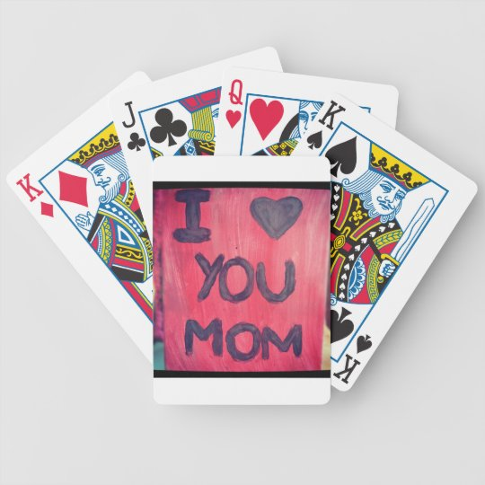 I <3 you mom bicycle playing cards